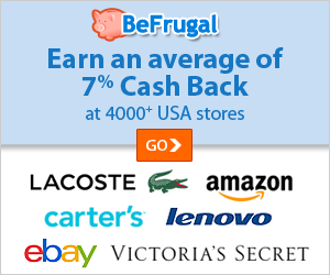Earn an average of 7 percent cash back with our partner BeFrugal