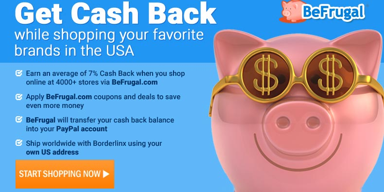 Get Cash Back with our partner BeFrugal